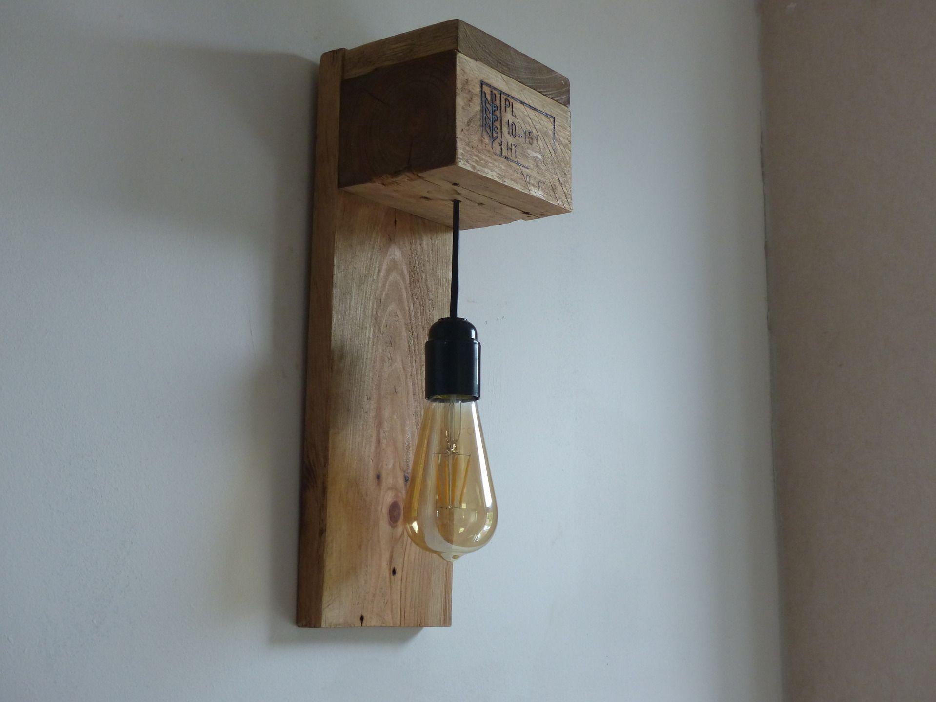Lampe Applique Bois LED Luminaires Par Travelwood DIY