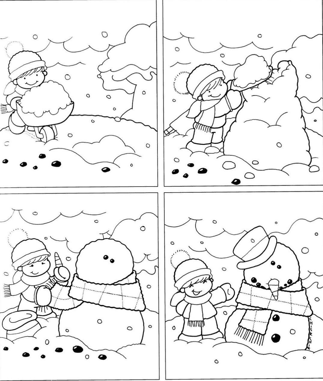 Logische Volgorde Voor Kleuters Thema Winter Figuras
