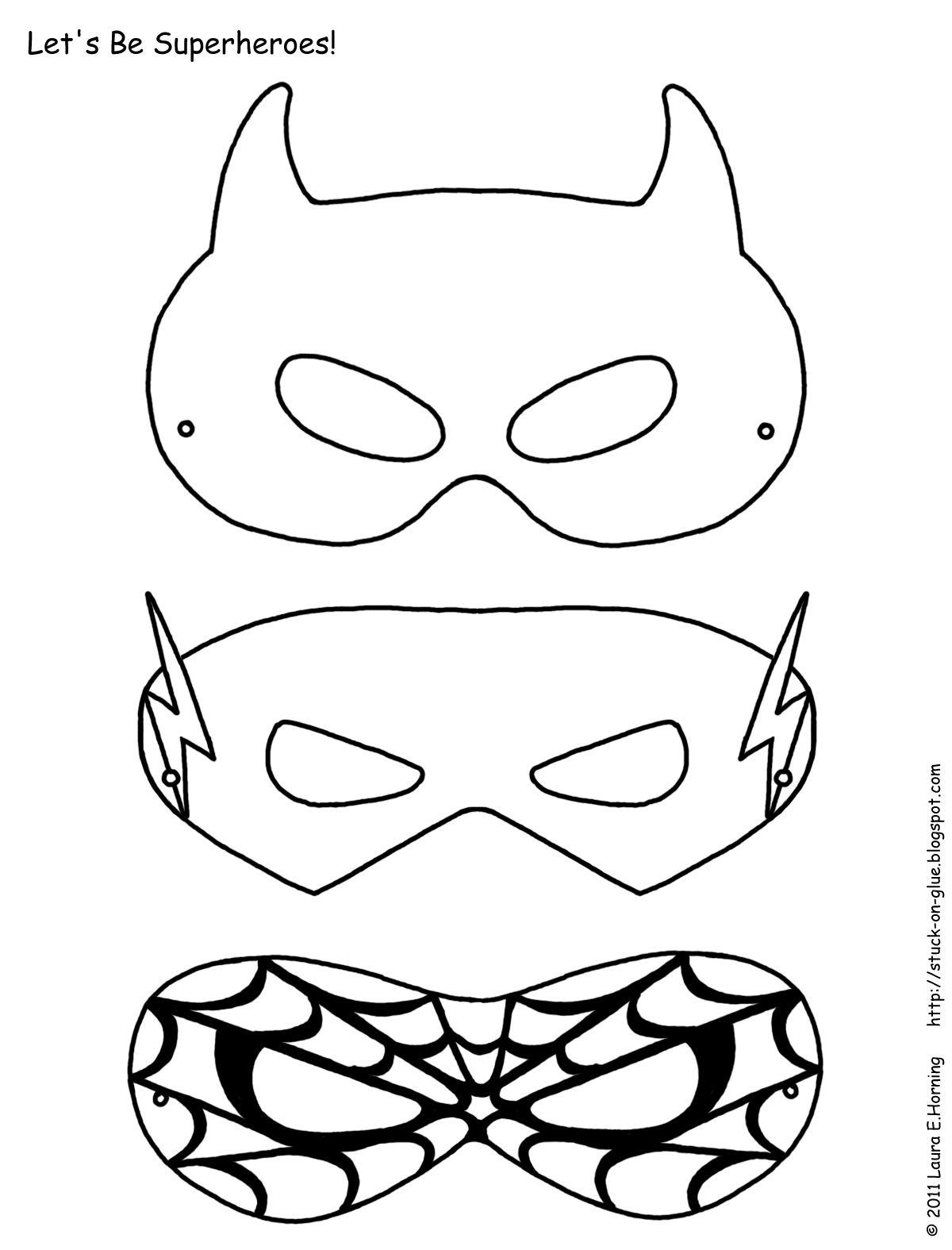 Superhero Activities Free Superhero Masks To Color