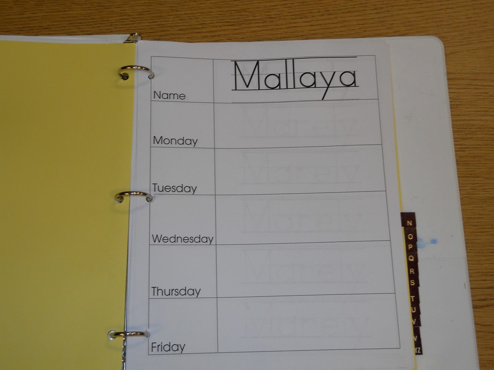 Daily Sign In Binder There S One Page Per Student Per