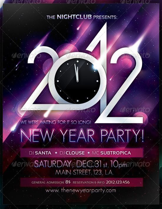 countdown party new year poster