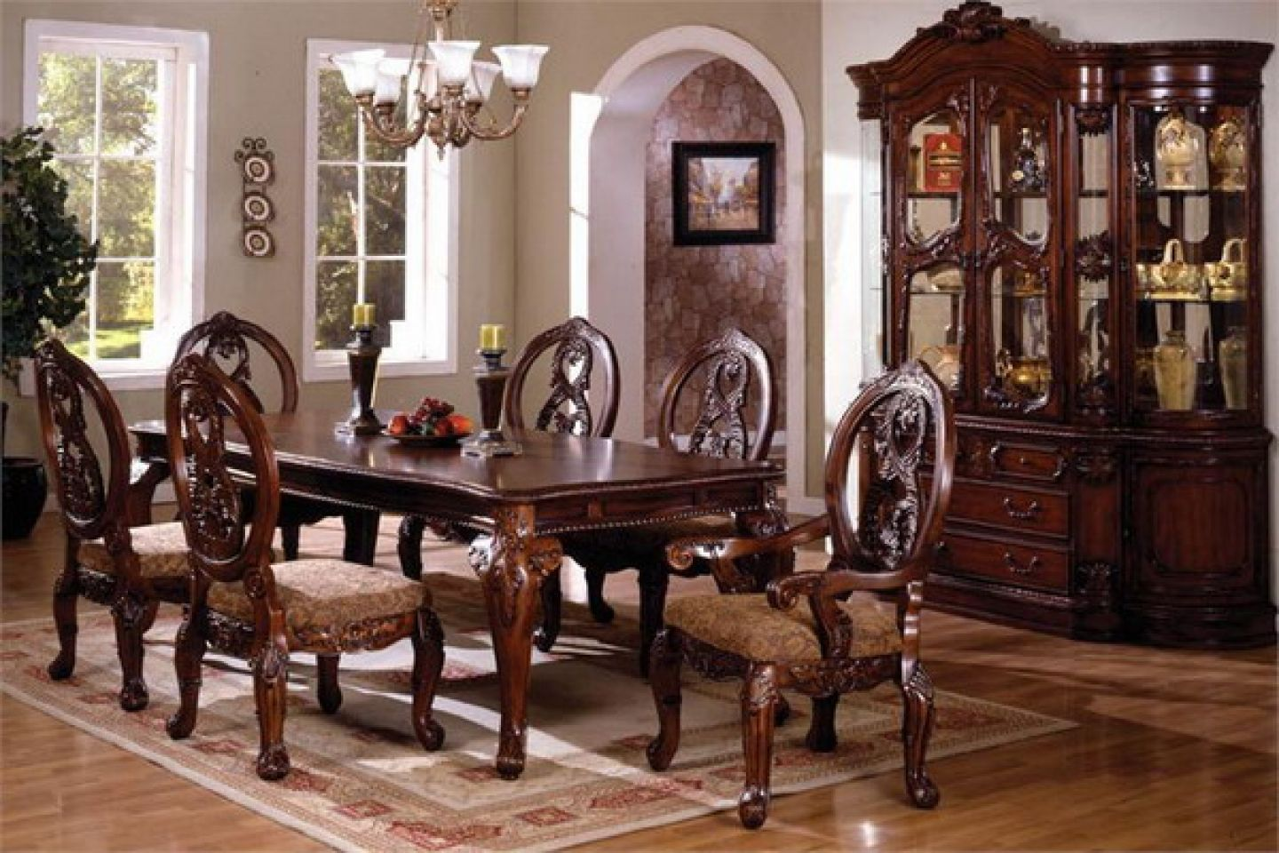 The Elegant Traditional Tuscany Dining Table Set Is The