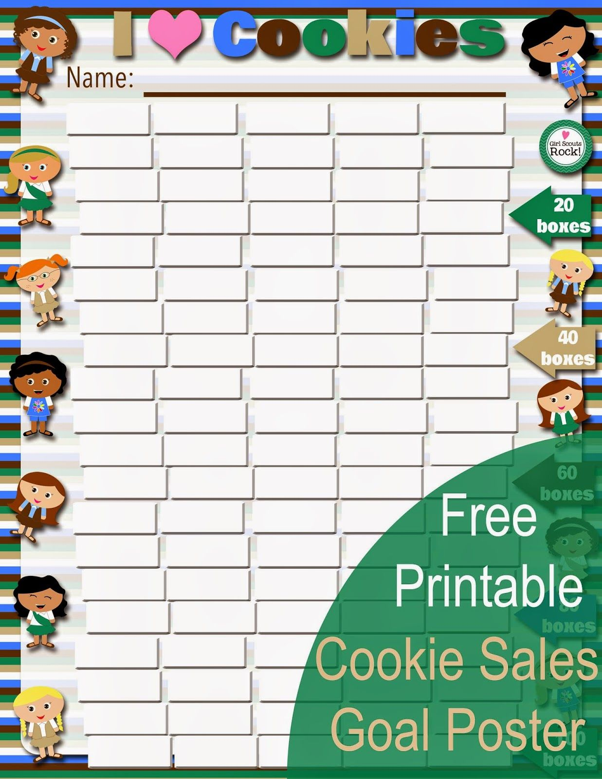 Fashionable Moms Free Printable New Cookie Sales Goal