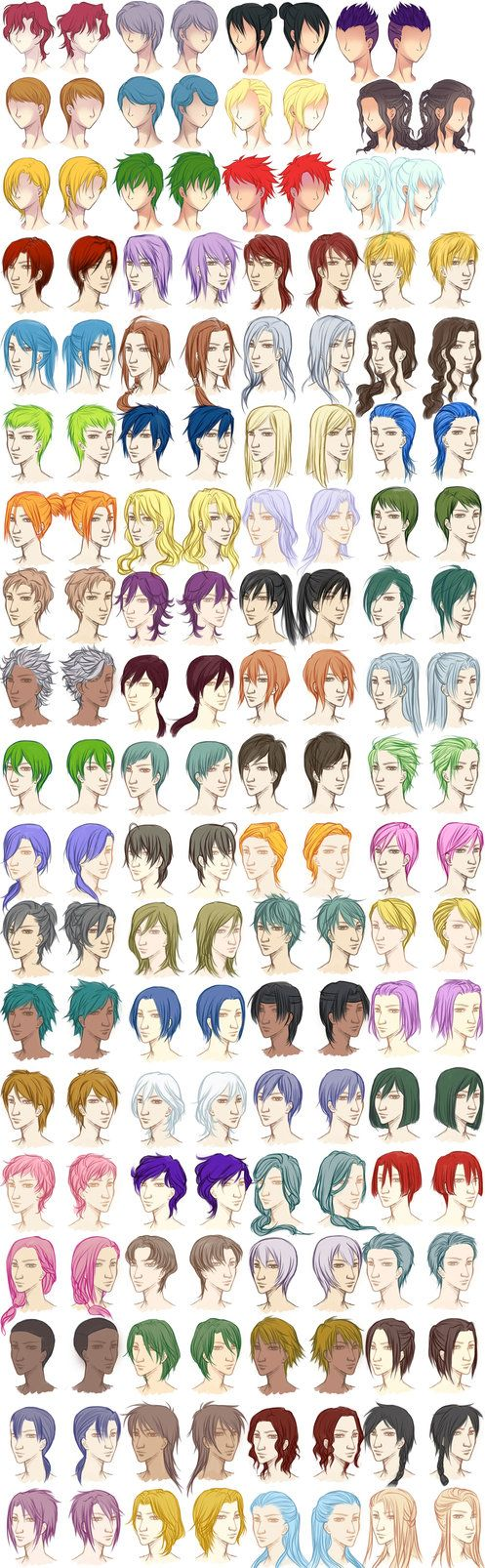 Male Hairstyle Reference Sheet By Dawniechi On Deviantart Art
