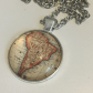 South america vintage map pendant necklace boutique