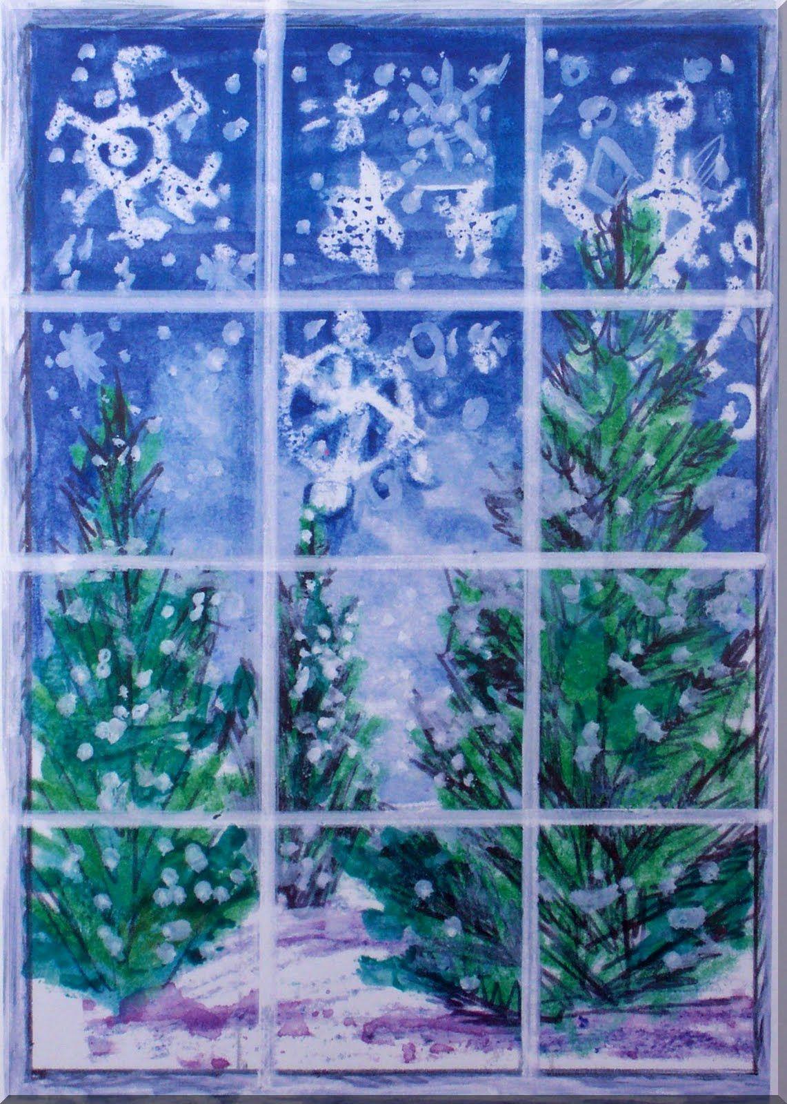 Elementary Winter Art Lessons