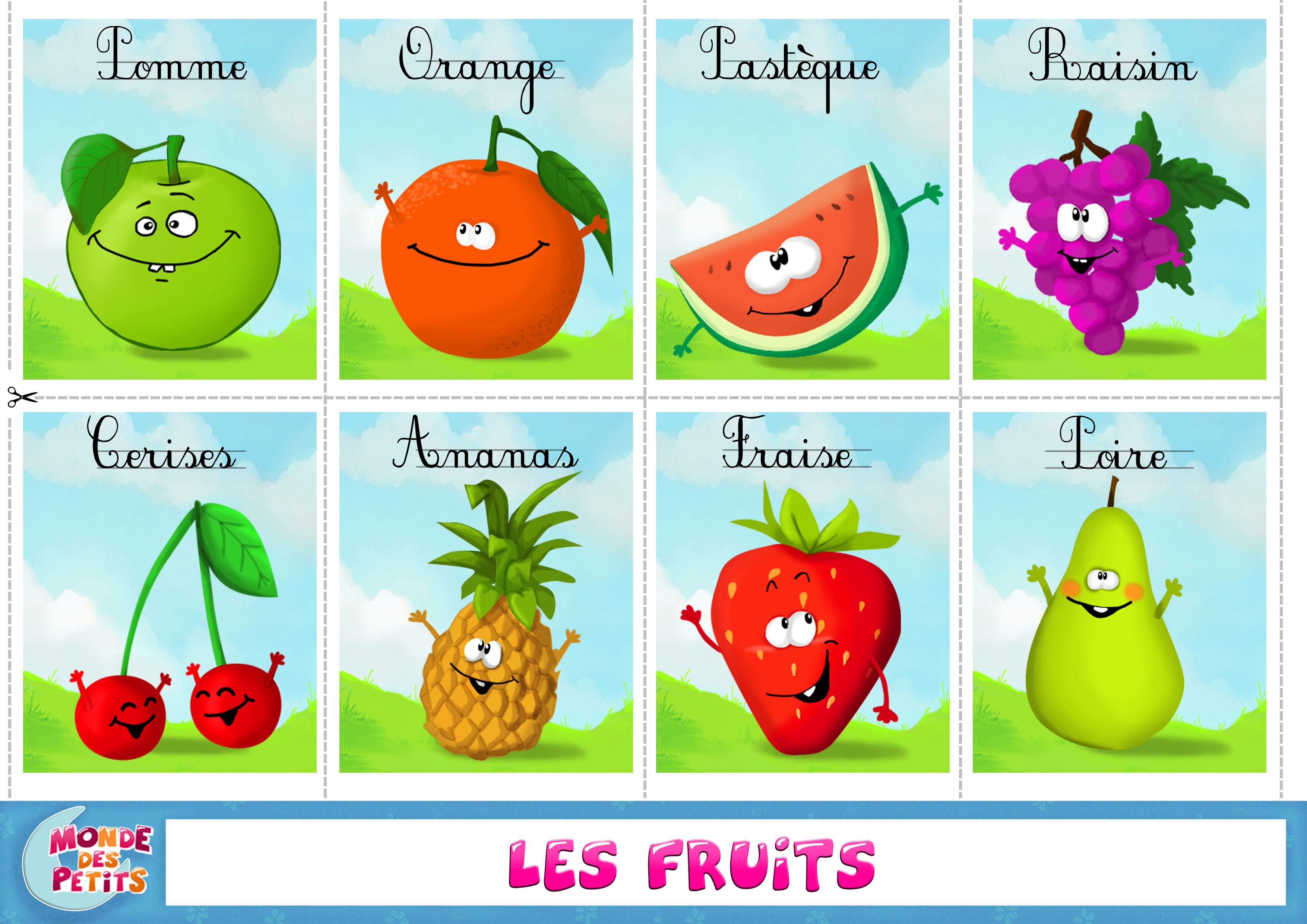 Apprendre Fruit Francais 3 508 2 480 Pixels