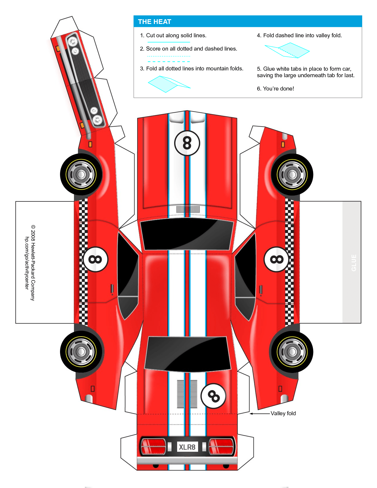 Car Cut Out Template For Kids