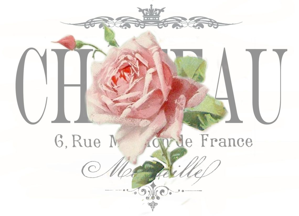 Vintage Rose Chateau Transfer Decoupage Test Digital Collage P Free To Use