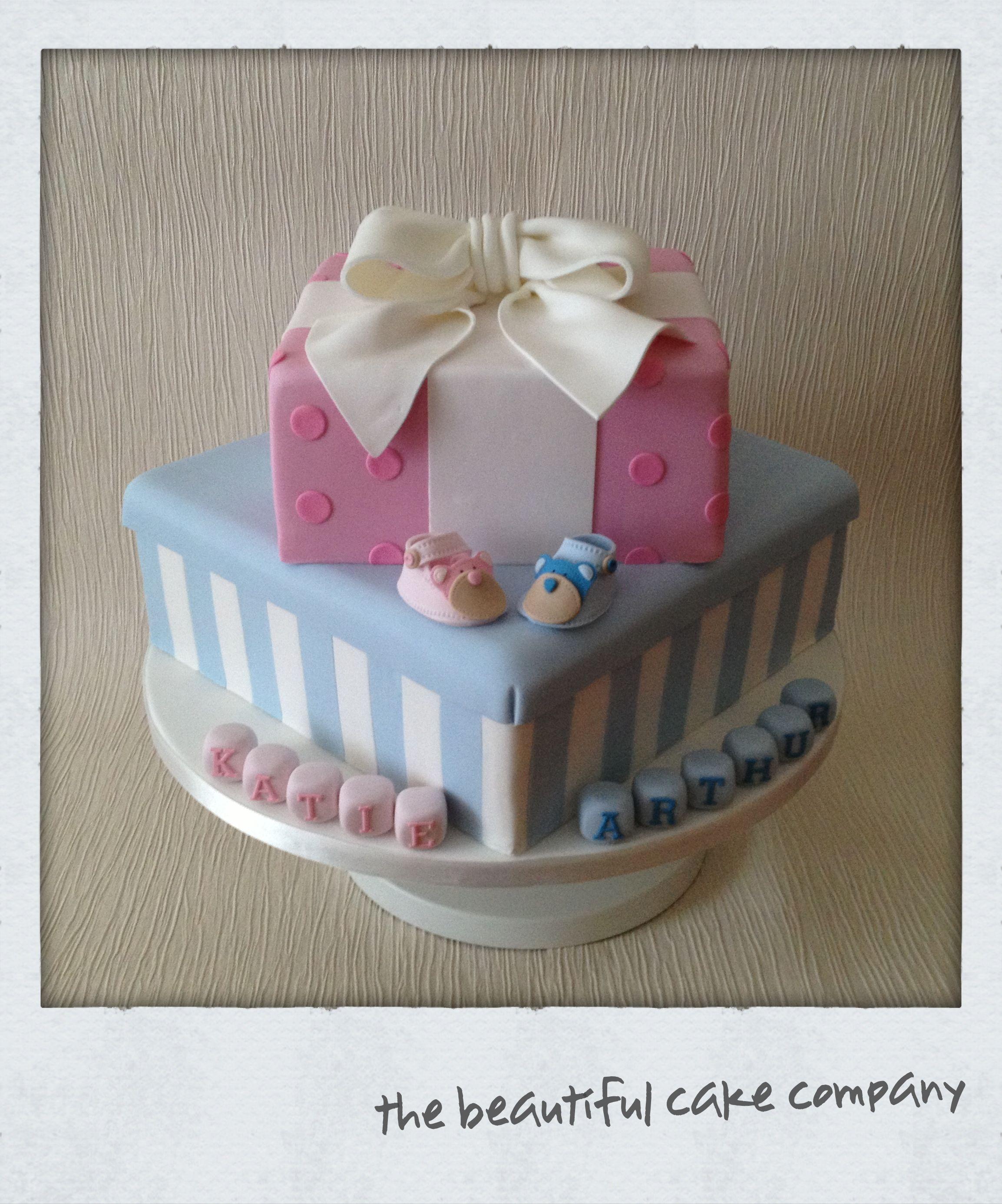 Twin Christening Cake Ebeautifulcakecompany Weebly