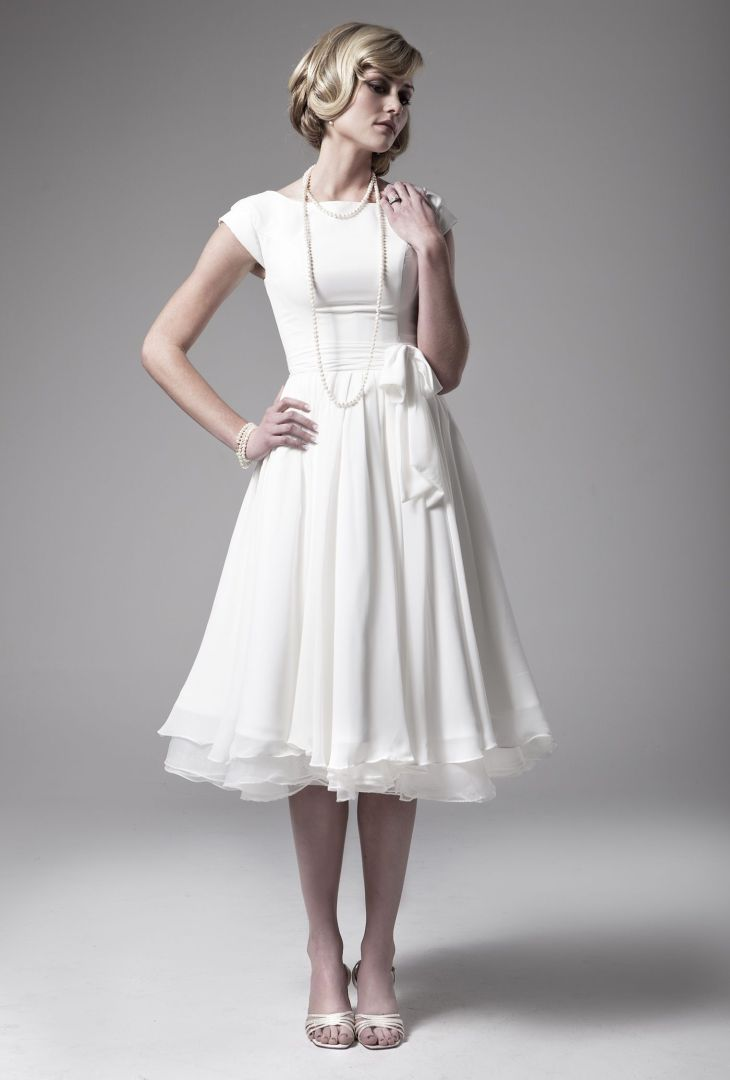 Love this dress  Wedding Dresses  Pinterest  Tea length Tea