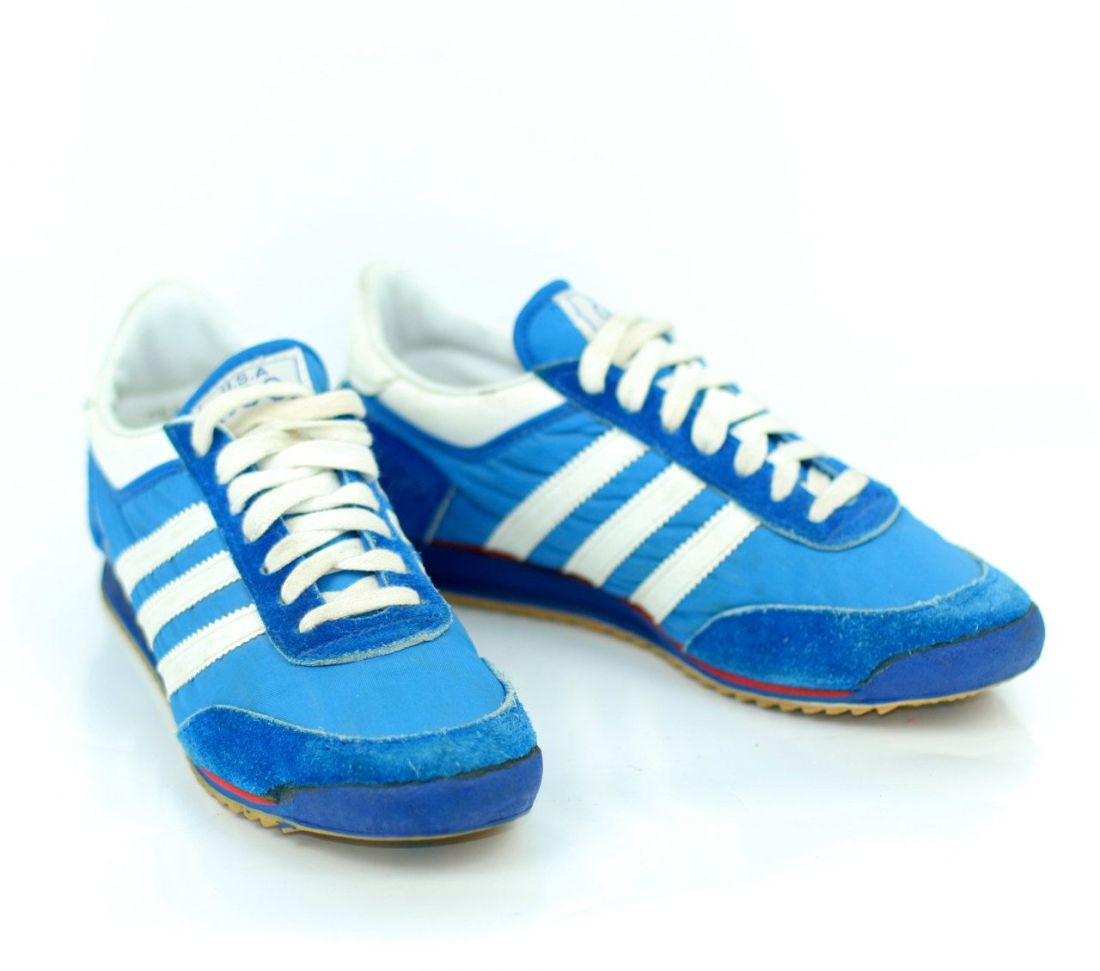 Vintage sneakers 1976 blue and white olympic issue by jc