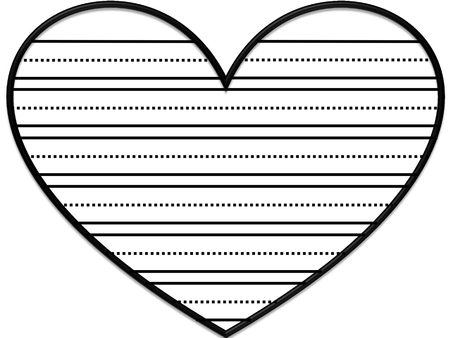 Valentine S Day Lined Paper