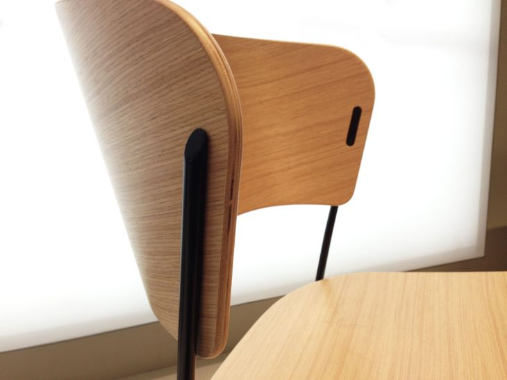 Solid wood Arc chairs posses a subtly curved back similar to that