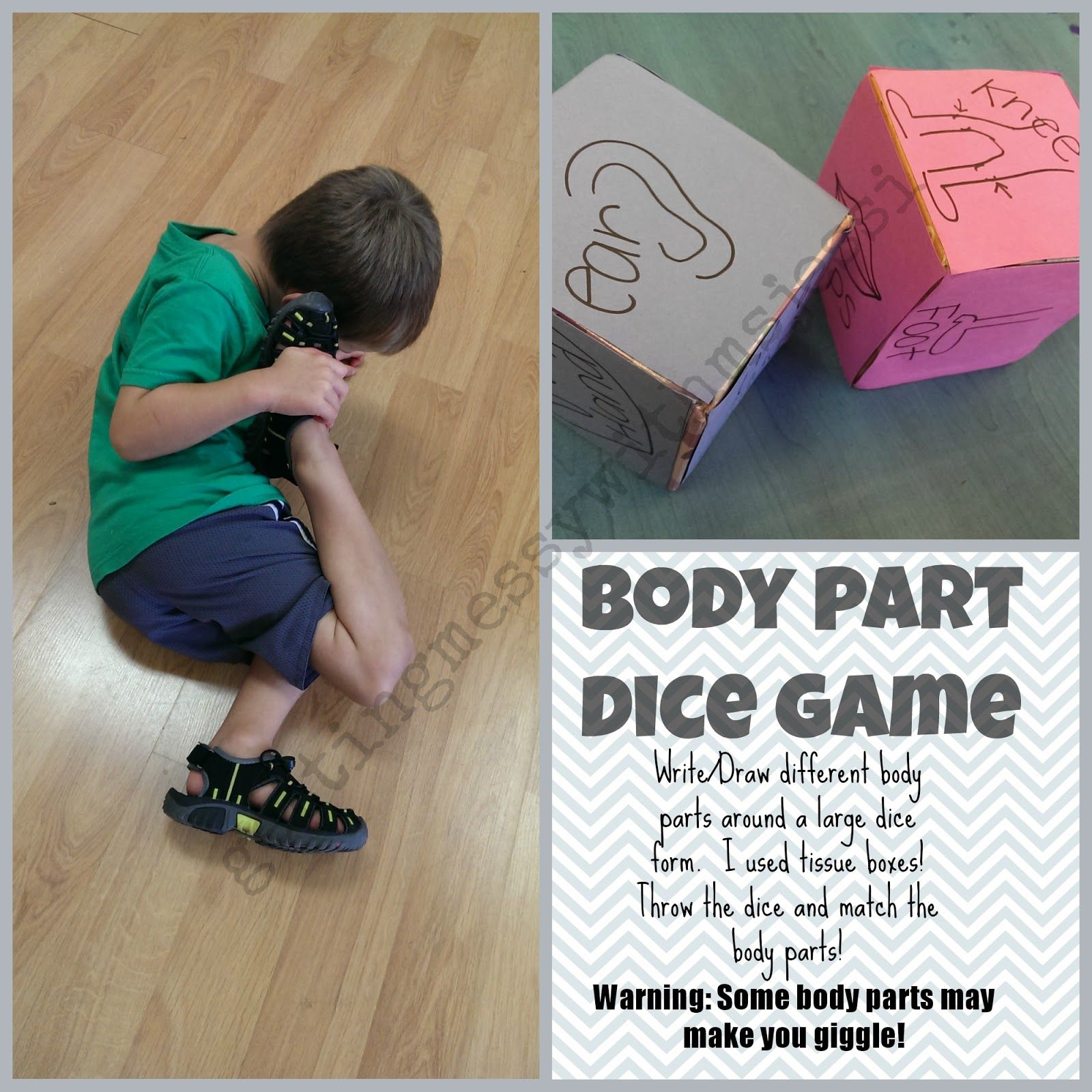 Getting Messy With Ms Jessi Body Part Dice Game
