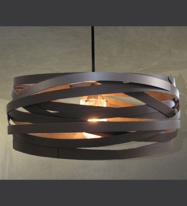 Office Already Purchased Cyclone Chandelier By Lightspann Studio Ribbons Of Iron Wred In A Drum Shape Surrounding N Le Glass Shade And