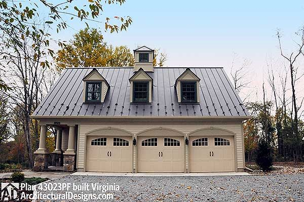 Architectural Designs Postcard Perfect Carriage House Plan