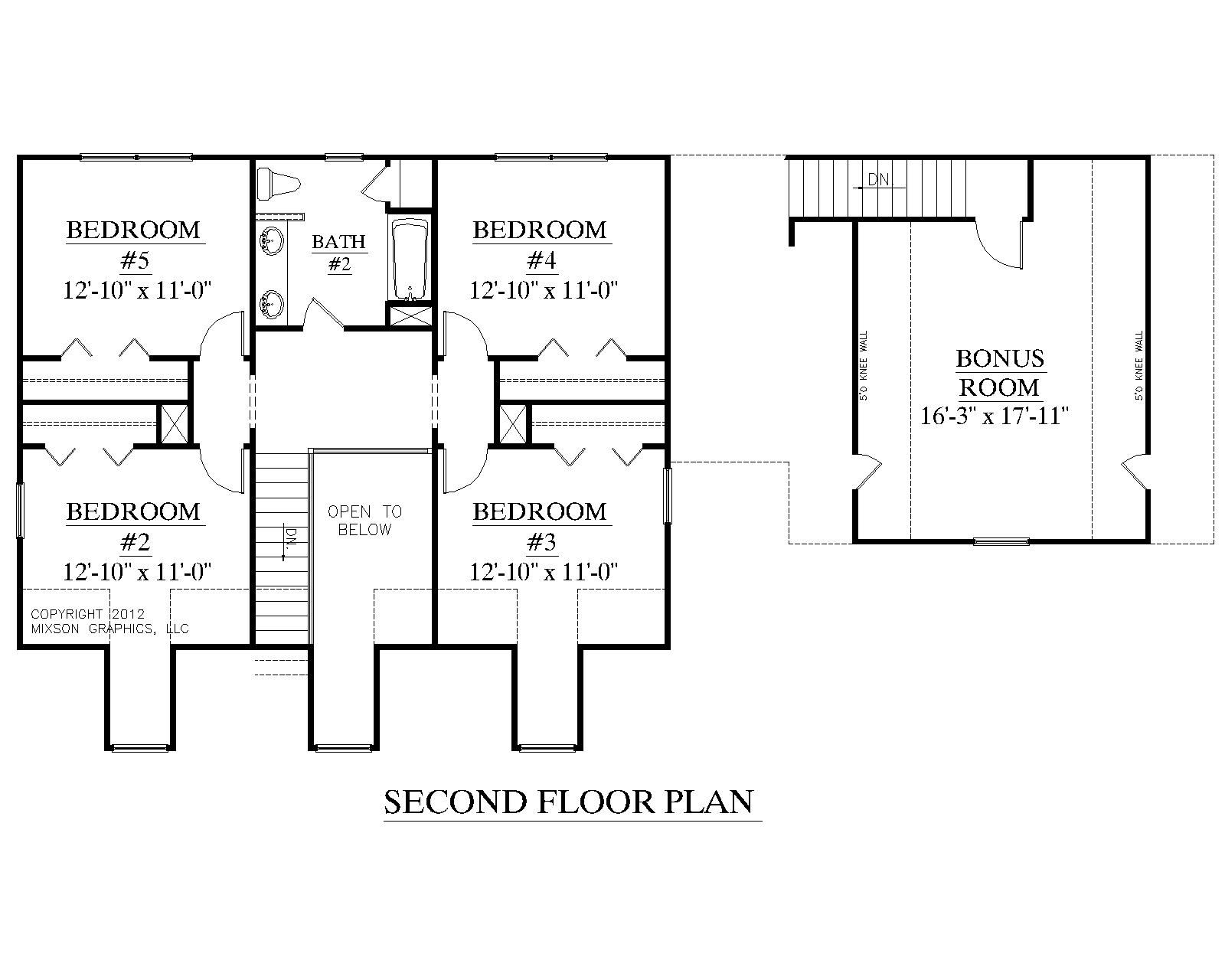 House Plan A Montgomery A Second Floor Plan