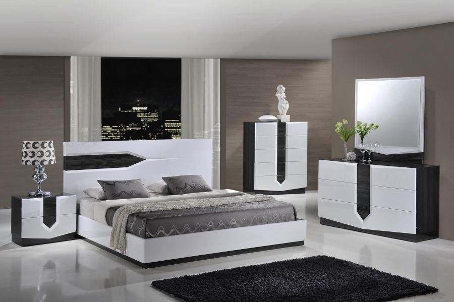 Grey And White Gloss Bedroom Furniture   Mondean Grey And White Gloss Bedroom Furniture