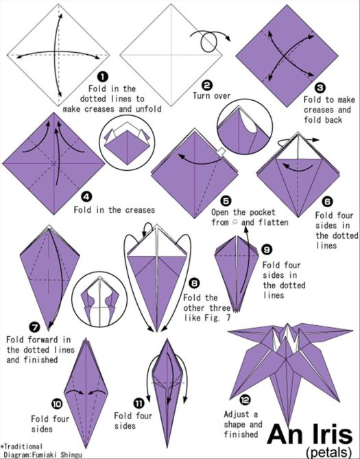 Origami flowers instructions pdf origami tutorial lets make it simple origami flower printable instructions image collections mightylinksfo
