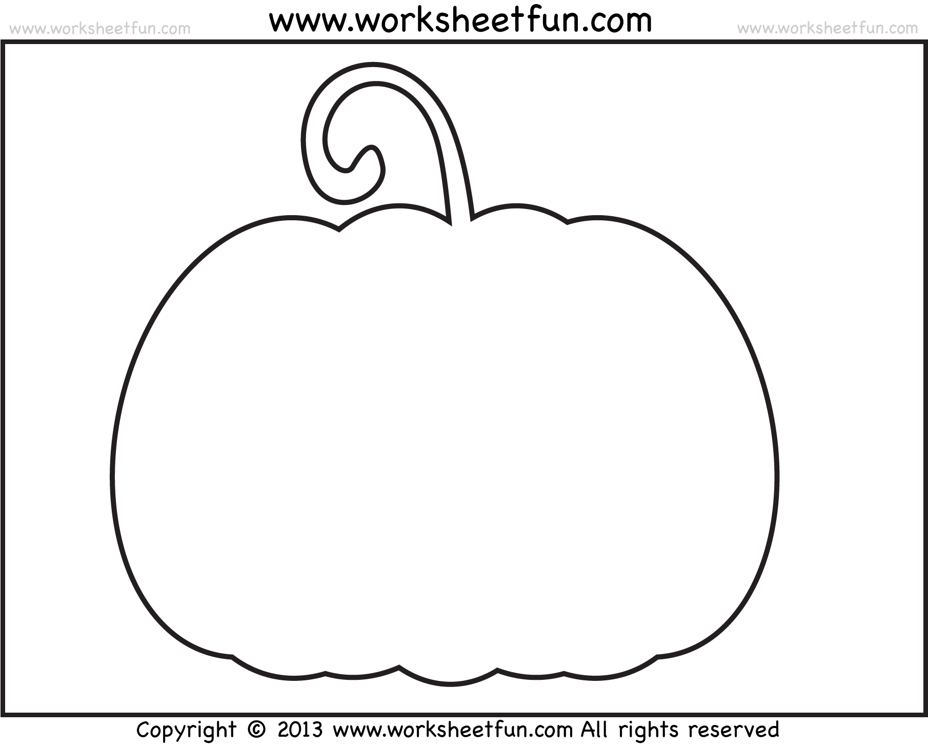 Best Photos Of Pumpkin Cut Out Templates