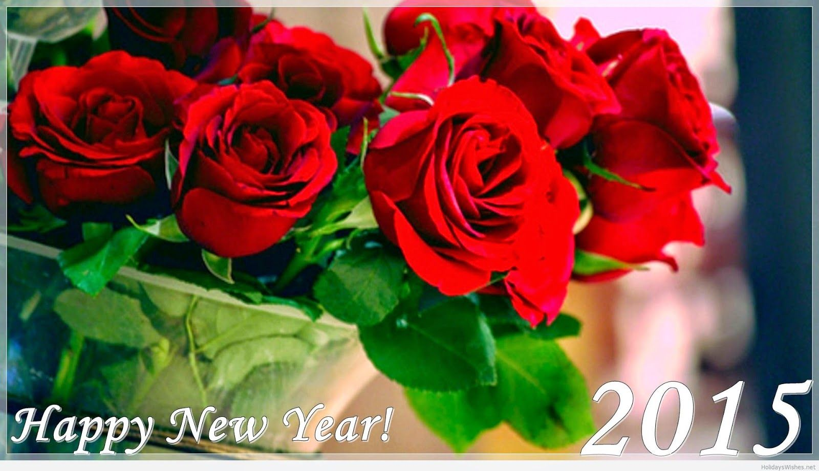 happy new year 2015 roses hd wallpaper   happy new year 2015