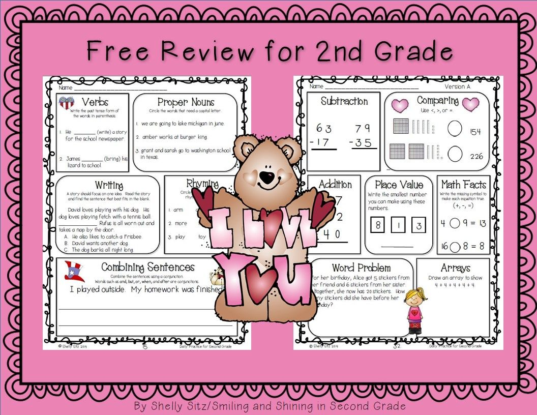 Common Core Math And Language Arts Daily Practice For Second Grade February