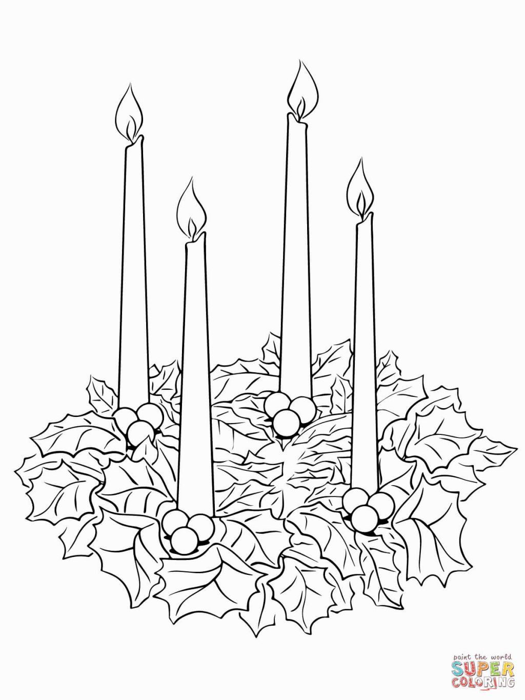 Advent Wreath Coloring Sheet