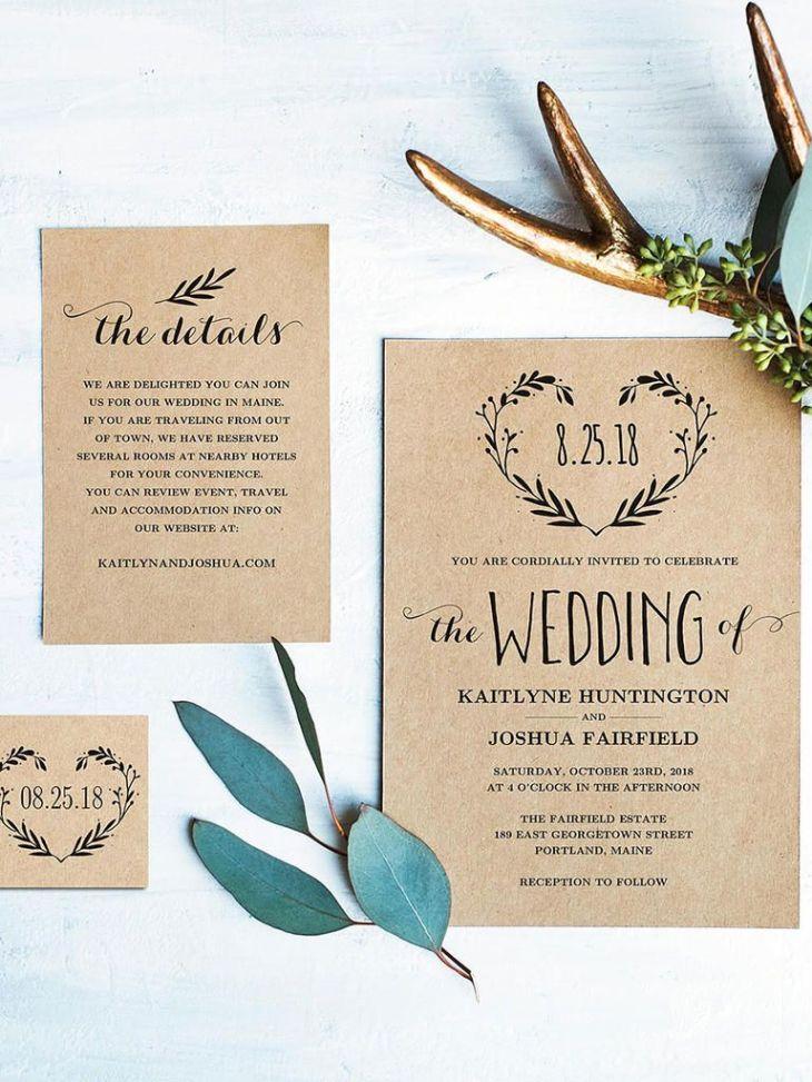 Printable Wedding Invitation Templates You Can DIY Diy wedding