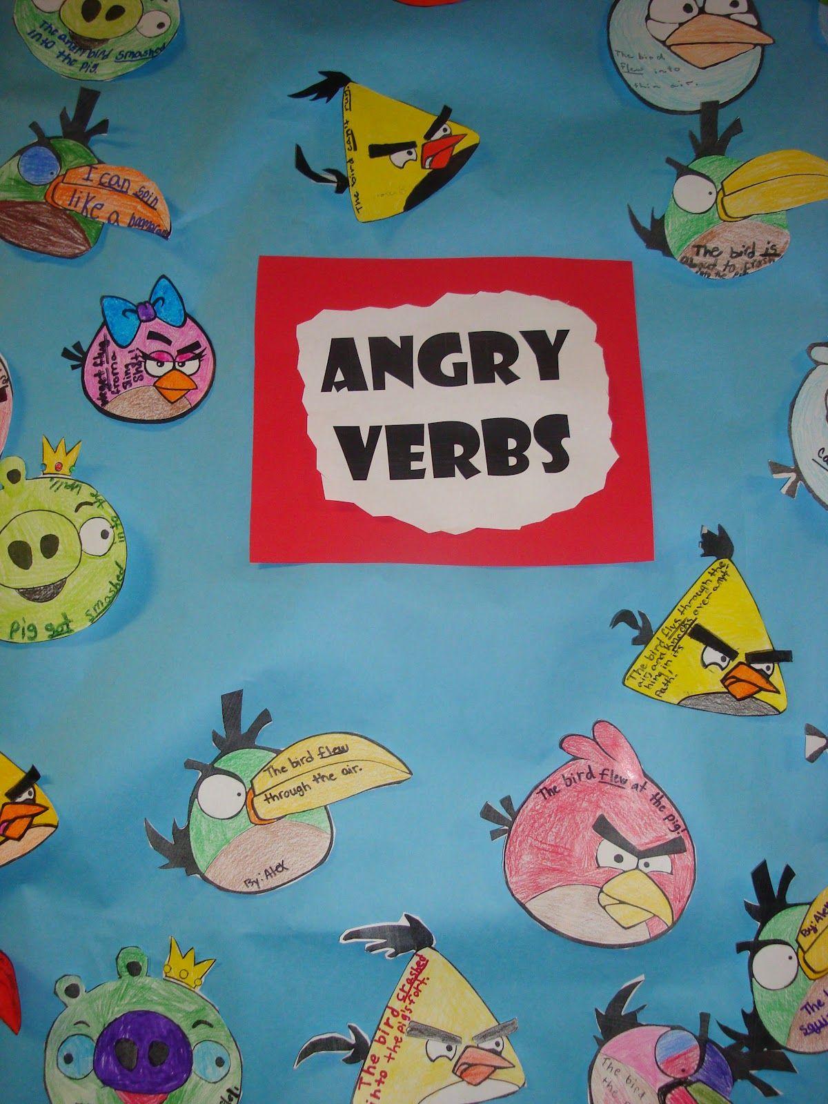 Angry Verbs Board