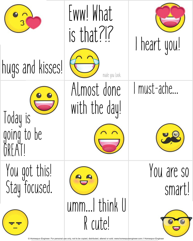 Emoji Lunchbox Notes