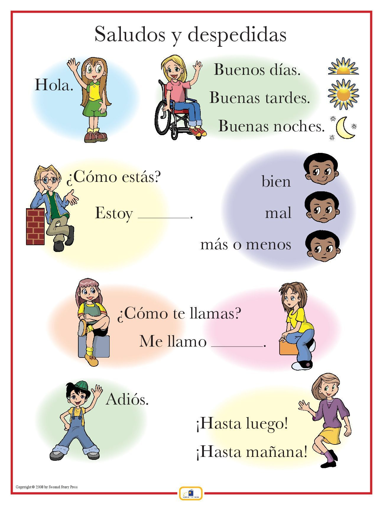 Spanish Greetings Poster