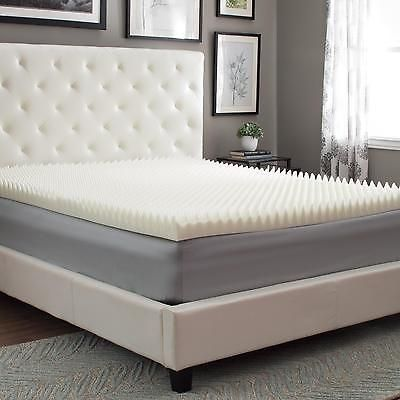 Egg Crate Mattress Topper California King Memory Foam 3 Inches Bed Cover Comfort