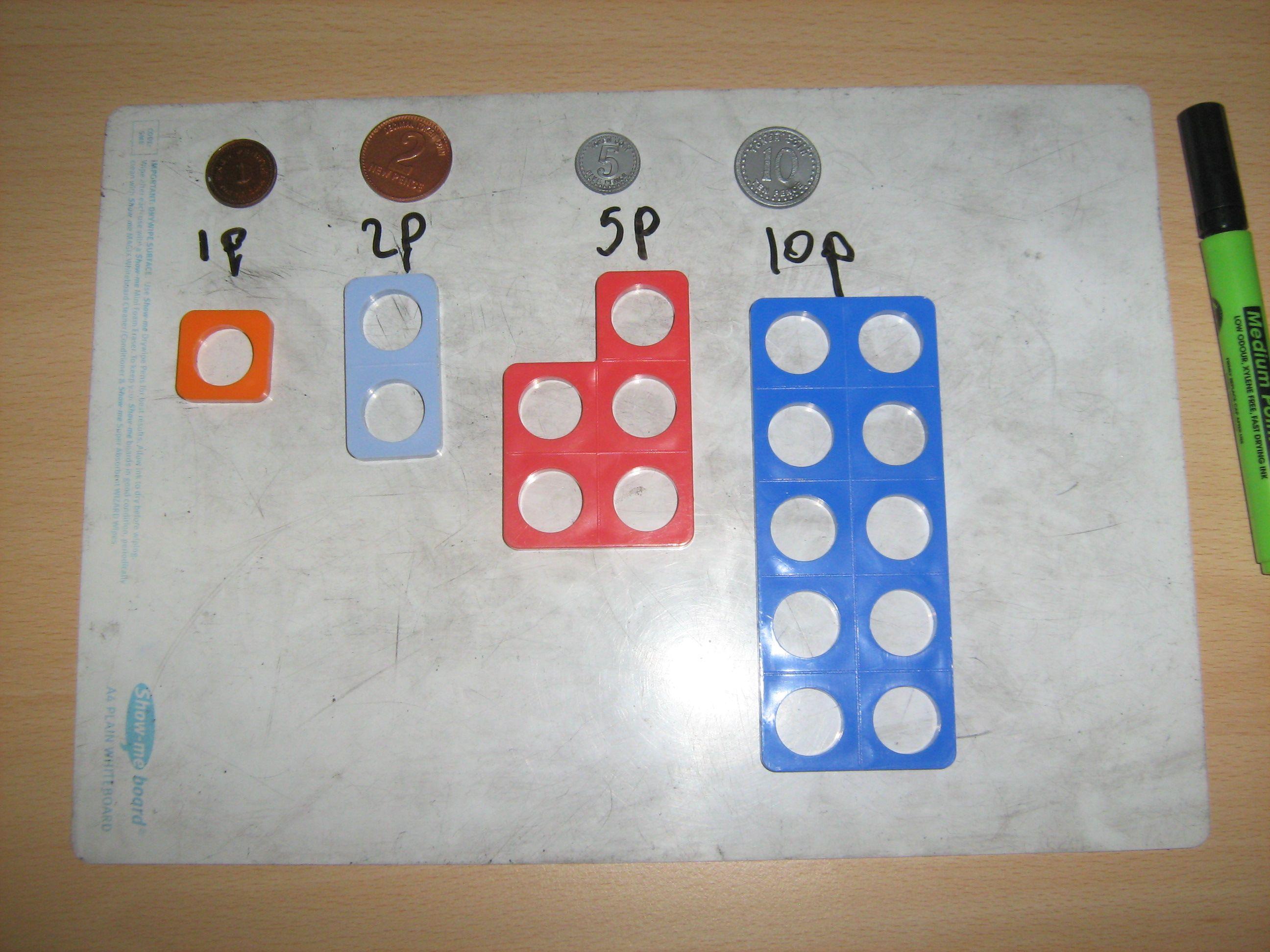Money Homework Sheets Reception