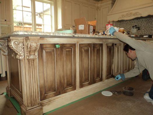 Off White Glazed Kitchen Cabinets Applying Antique Glaze To Doityourself Com