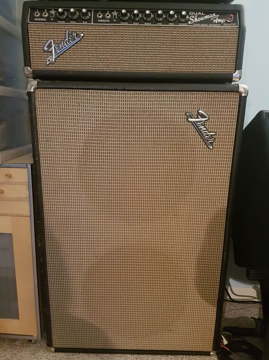 Up For Is My 1967 Fender Blackface Dual Showman Amp Head And Speaker Cabinet