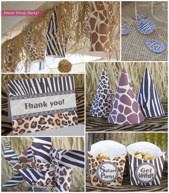 Safari Party Printables Animal prints Party by ...