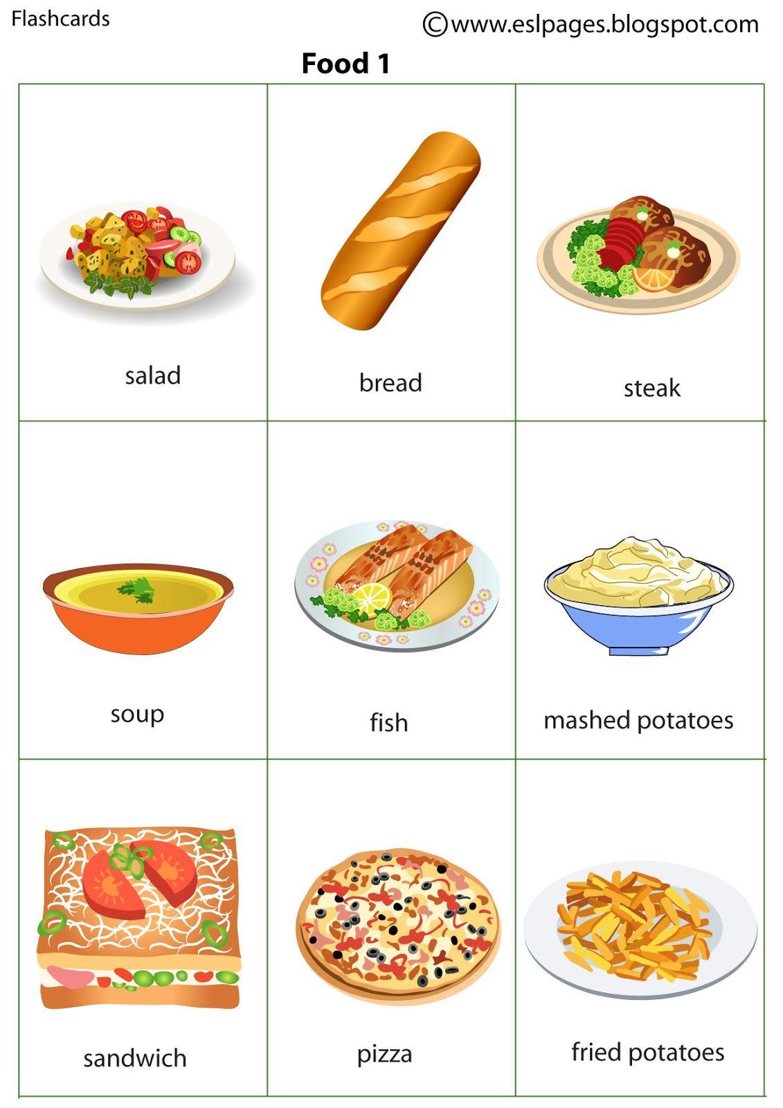 Risultati Immagini Per Food Flashcards