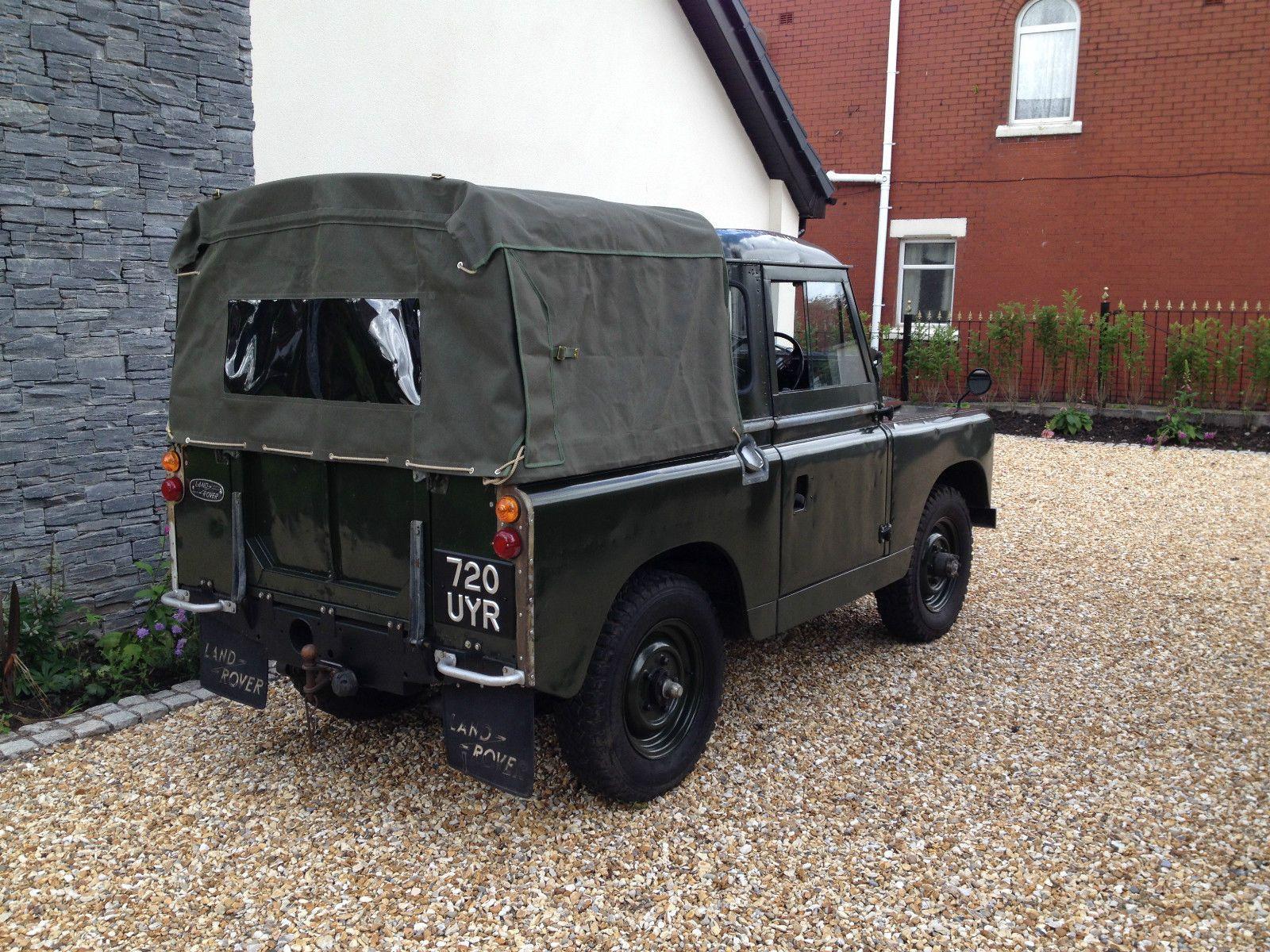 "1961 series 2 LAND ROVER 88"" GREEN truck cab pickup Diesel tax"