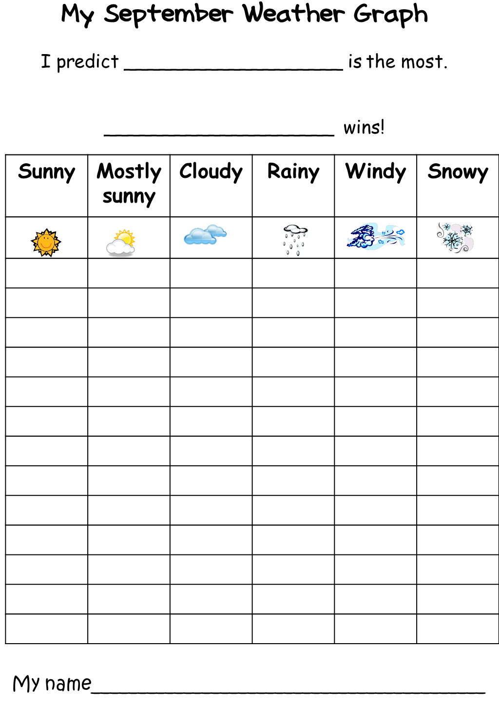 Monthly Weather Graph Freebie