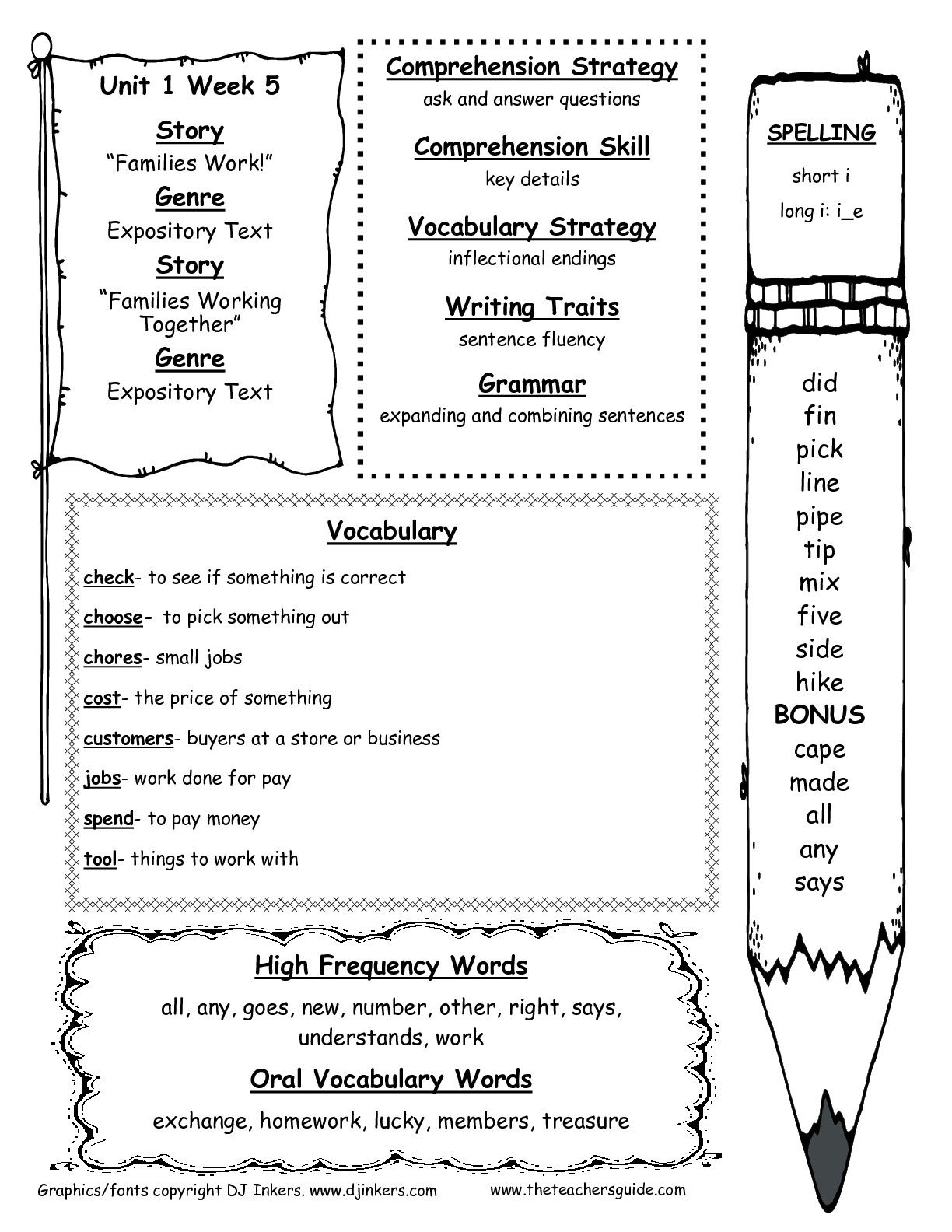 Mcgraw Hill Wonders Second Grade Resources And Printouts