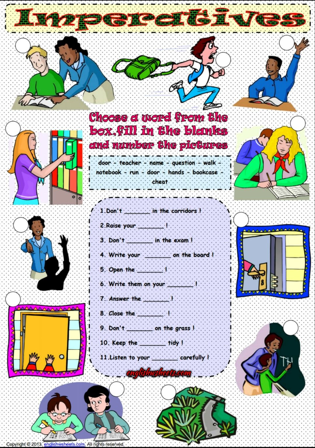 Imperative Mood Esl Grammar Exercises Worksheet