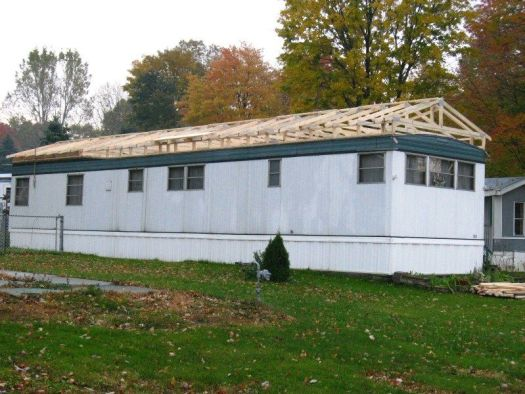 Build A Roof Over An Existing Mobile Home