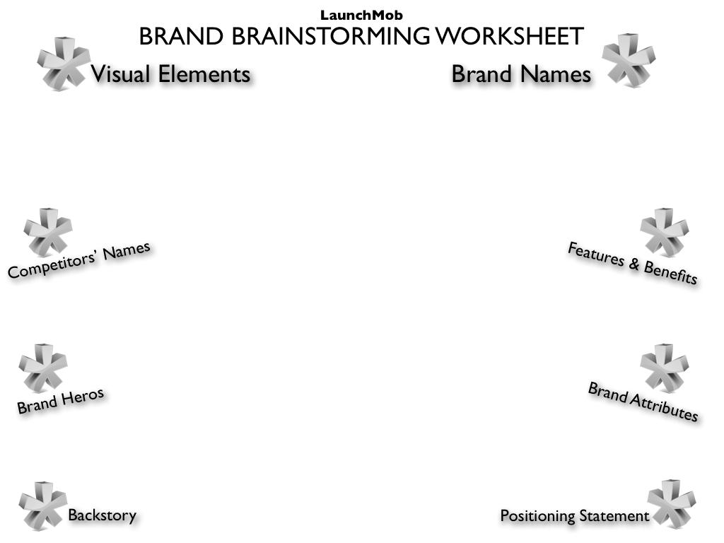 Launchmob S Brand Brainstorming Worksheet