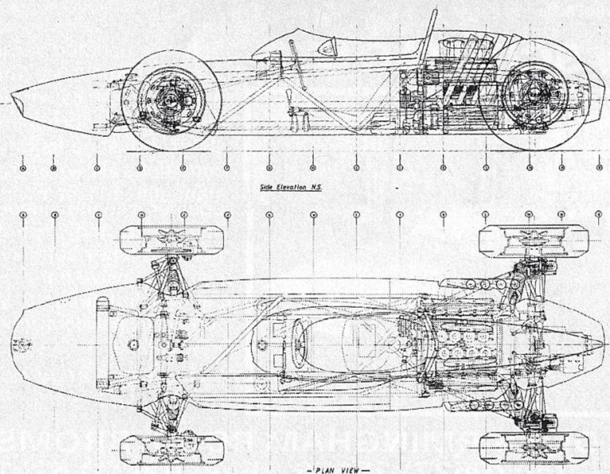 Brm P57 Cutaway Drawing
