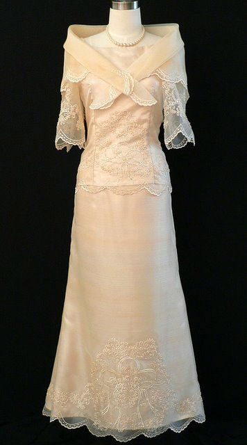 Baro At Saya Filipiniana Gown 6023 This Beautiful Baro