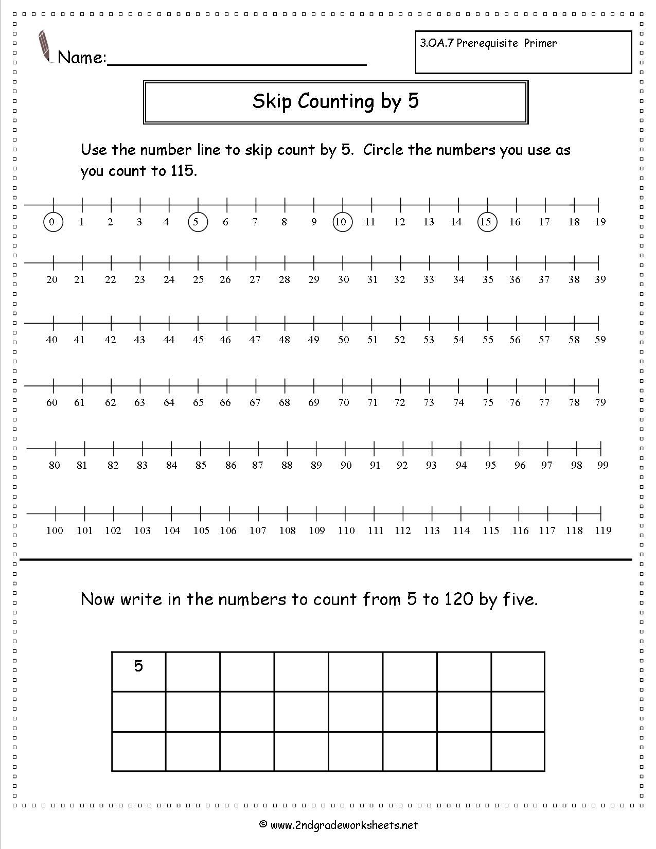 Skip Counting By 5 Worksheet