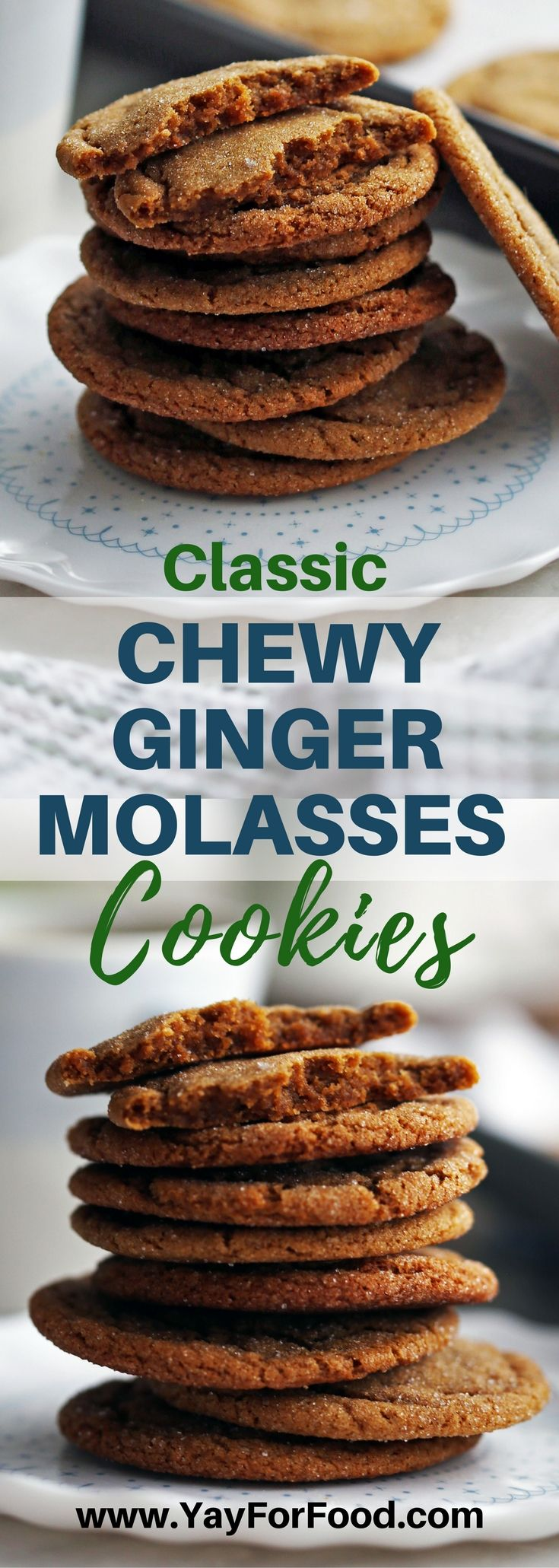 Check out these delicious sweet and spiced gingersnap (ginger molasses) cookies! Makes 32 tasty classic cookies in under 30