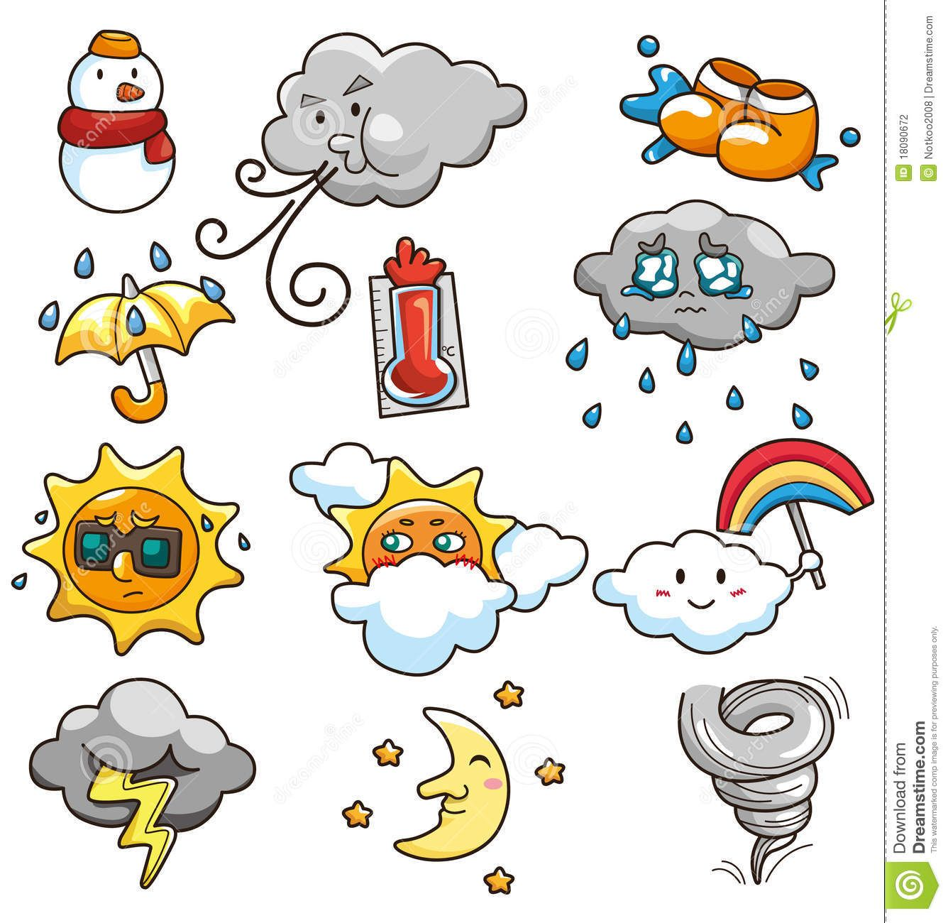 Cartoon Weather Icon Stock Photography