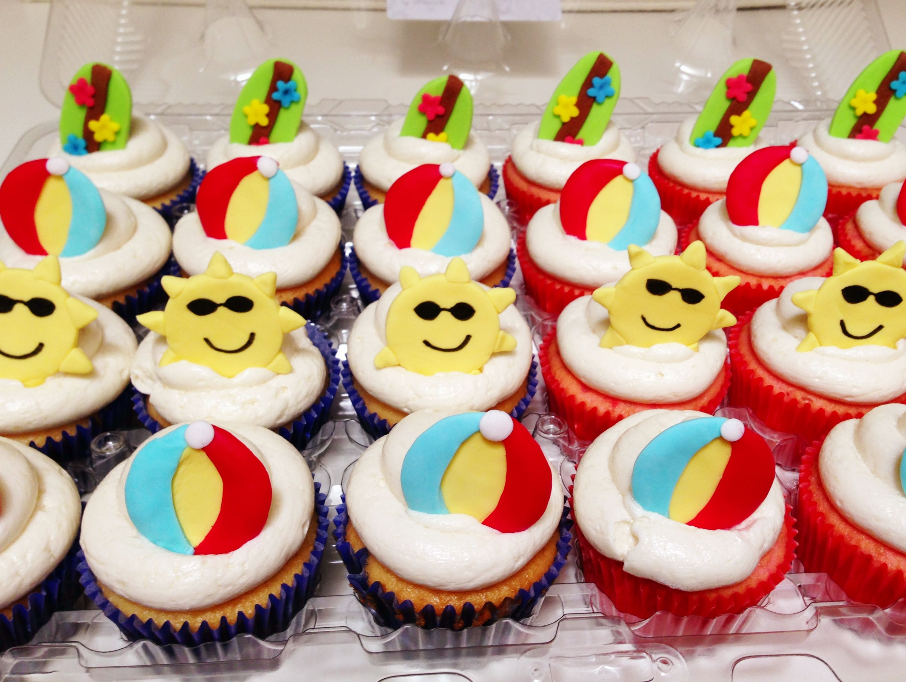 Summer Themed Cupcakes For Bake A Wish